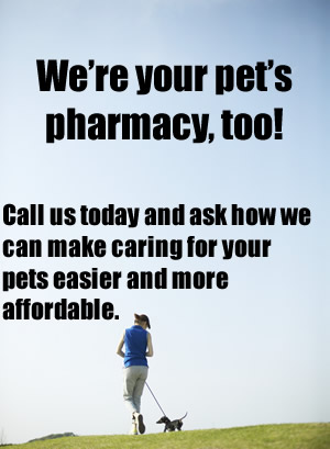 Call to find out how we can help you save money on your pet's prescriptions