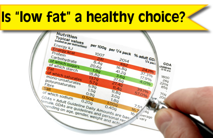 Nutrition Label - Is Low Fat Food a Healthy Choice?