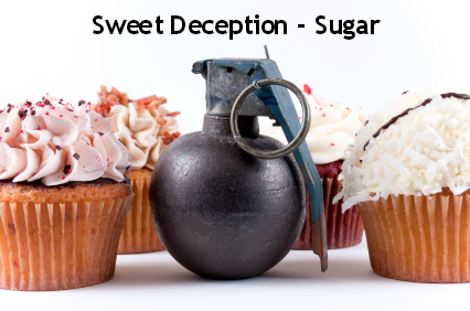 cupcakes and bomb -  sweet deception - the danger of sugar